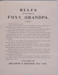Julia Louella Anno Scrapbook, Foxy Grandpa