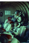Gary Buck and Wes Brown inside a DC-3 on a fire call by Douglas Beck
