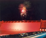 Fireworks Display over Grand Coulee Dam by U.S. Bureau of Reclamation
