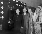 Langlie, Banks, Darland and Chief Jim James Touring the Power House by U.S. Bureau of Reclamation