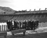 Checking the progress of Grand Coulee Dam by U.S. Bureau of Reclamation