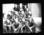 Boys basketball team portrait by Hubert Blonk