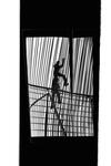 Workers climb steel framework
