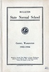 Catalog Number, State Normal School, Cheney, Washington, 1933-1934 by State Normal School (Cheney, Wash.)