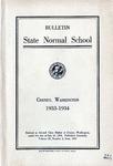 Catalog Number, State Normal School, Cheney, Washington, 1933-1934