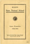 Catalog Number, State Normal School, Cheney, Washington, 1932-1933