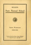 Catalog Number, State Normal School, Cheney, Washington, 1930-1931
