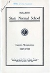 Catalog Number, State Normal School, Cheney, Washington, 1929-1930