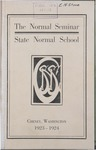 Normal Seminar Catalog Number, State Normal School, Cheney, Washington, 1923-1924