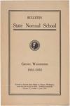 Catalog Number, State Normal School, Cheney, Washington, 1931-1932