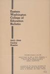 Eastern Washington College of Education, Cheney, Washington, annual catalog, 1943-1944