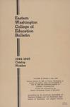 Eastern Washington College of Education, Cheney, Washington, annual catalog, 1944-1945