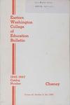 Eastern Washington College of Education, Cheney, Washington, annual catalog, 1946-1947
