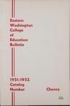 Eastern Washington College of Education, Cheney, Washington, annual catalog, 1951-1952