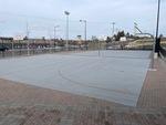 Sad Dressler Hall basketball courts by Michelle Schultz