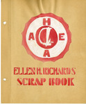 Ellen H. Richards Club scrapbook title page by Nancy Kate Broadnax Philips