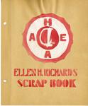 Ellen H. Richards Club scrapbook title page by Nancy Kate Broadnax Philips