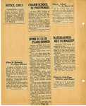 Ellen H. Richards Club scrapbook page 72