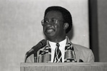 Felix Boateng speaking at National Council for Black Studies event
