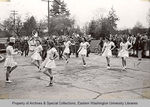 Marching Band and Majorettes at a Pep Rally by Bruce Penny