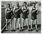 Four members of the Eastern track team by Publications, Eastern Washington State College