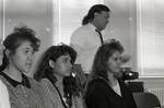 Three women at a Chicano Education freshman orientation at Eastern Washington University by Publications, Eastern Washington University