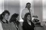 Three women at a Chicano Education freshman orientation at Eastern Washington University
