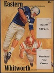 Whitworth College versus Eastern Washington College of Education football program, 1962 by Eastern Washington College of Education. Associated Students