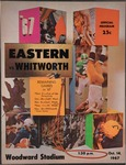 Whitworth College versus Eastern Washington State College football program, 1967 by Eastern Washington State College. Associated Students.