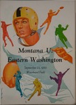 University of Montana versus Eastern Washington College of Education football program, 1950 by Eastern Washington College of Education. Associated Students