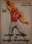 Linfield College versus Eastern Washington State College football program, 1962