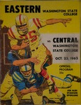 Central Washington State College versus Eastern Washington State College football program, 1965 by Eastern Washington State College. Associated Students