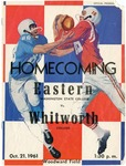 Whitworth College versus Eastern Washington College of Education football program, 1961 by Eastern Washington College of Education. Associated Students