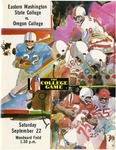 Oregon College of Education versus Eastern Washington State College football program, 1973 by Eastern Washington State College. Associated Students
