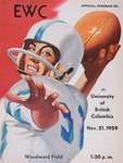 University of British Columbia versus Eastern Washington College of Education football program, 1959