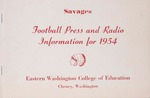 Eastern Washington College of Education football press guide, 1954
