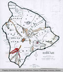 Map of Hawaii, Hawaii by Ray Jerome Baker