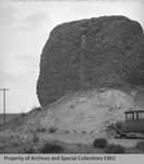 Wisconsin boulder of basalt by Otis W. Freeman