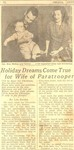 Newspaper holiday article by Unknown