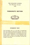 Parachute Section: Students' Text, title page by U.S.A. Army official photographer