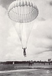 Soldier parachuting during military training by U.S.A. Army official photographer