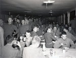 Soldiers eating in Mess hall