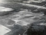 Aerial view of landing jump field by U.S. Army Air Corps official photographer