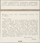 Letter to Grit from Robert Gillette about World War II service in the United Kingdom by Robert Gillette