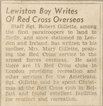 Lewiston Boy Writes of Red Cross Overseas