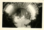 Practice Jumps, England; 1944. Interior of an Airborne aircraft with servicemen.