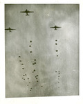 Paratroopers with parachutes deployed by Robert Gillette