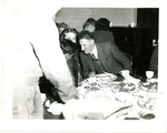 Diners talking during S-2 Party prior to Normandy by Robert Gillette