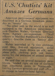 """US 'CHUTISTS' KIT AMAZES GERMANS"""