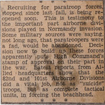 """Recruiting for paratroop forces,..."""